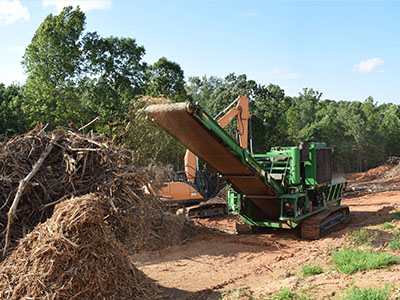 Land Clearing Site Prep Clearing Grading and Grubbing Operations Troutman, NC